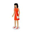 female faceless cartoon character vector image