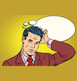 puzzled businessman business people vector image