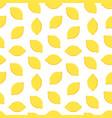 yellow lemons seamless pattern background vector image
