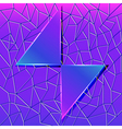 abstract background with glass triangles and polyg vector image