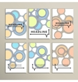 Abstract bright circles on a white background vector image vector image