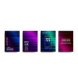 abstract covers design gradient creative vector image vector image