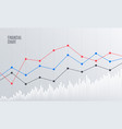 abstract financial chart with line graph vector image