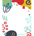 abstract shape template in terrazzo trendy style vector image vector image