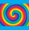abstract swirl twisted radial gradient rainbow vector image vector image