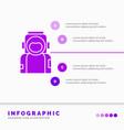 astronaut space spaceman helmet suit infographics vector image