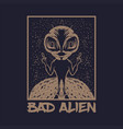 bad alien vector image