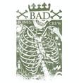 bad bones crew vector image vector image