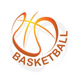 basketball gradient outline symbol background vector image vector image