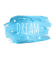 believe word with stars on blue brush pain vector image