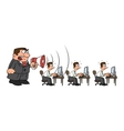 Boss yelling at workers vector image vector image