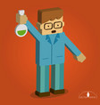 boy isometric scientist vector image vector image