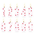 burning numeral candle for girls