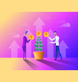 business concept in flat design people gathering vector image