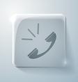 call Glass square icon vector image