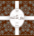 card with brown floral japanese pattern vector image