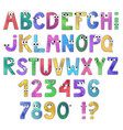 cartoon alphabet isolated on white background vector image