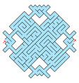 colorful fantastic labyrinth in the form of a vector image vector image