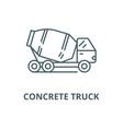 concrete truck line icon concrete truck vector image