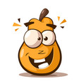 cute funny pear cartoon characters vector image vector image