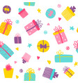 cute gift boxes seamless pattern colorful vector image vector image