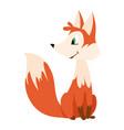 cute happy cartoon fox for vector image
