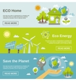 Eco Energy Banner vector image vector image