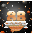 Eighty eight years anniversary celebration vector image vector image