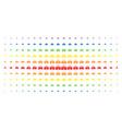 emergency car spectrum halftone array vector image vector image