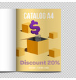fast catalog a4 sheet vector image vector image