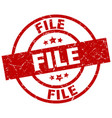 file round red grunge stamp vector image vector image