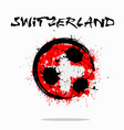 flag of switzerland as an abstract soccer ball vector image vector image