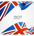 flag uk border vector image vector image