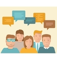 flat concept - teamwork and brainstorming vector image vector image