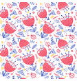 flowers and bugs colorful seamless pattern vector image