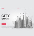 futuristic city skyscrapers landing page vector image vector image