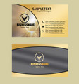 golden shinny effect business card vector image vector image