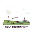 golf tournament line banner vector image vector image
