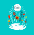 happy easter greeting funny vector image vector image