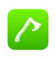 hatchet icon digital green vector image vector image