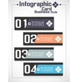 INFOGRAPHIC BUSINNES CARD STYLE 2 vector image vector image