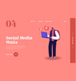 internet community landing page templateyoung man vector image