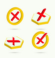 isometric icons vector image vector image