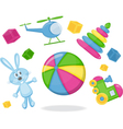kid toys vector image vector image