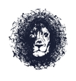 Lion in grunge style vector image