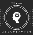 man silhouette with gear icon graphic elements vector image