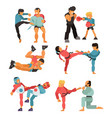 martial art people character fighter vector image vector image