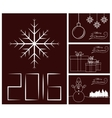 Merry Christmas and Happy New Year card set vector image vector image