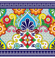 mexican talavera seamless pattern vector image vector image