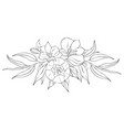 peony flowers and leaves tattoo compositions vector image vector image